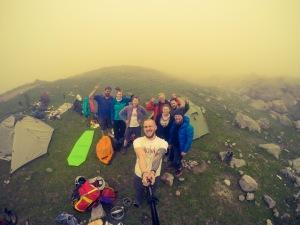 Pirmoji stovykla 3000 metrų aukštyje